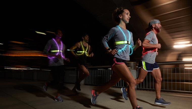 running vest at night