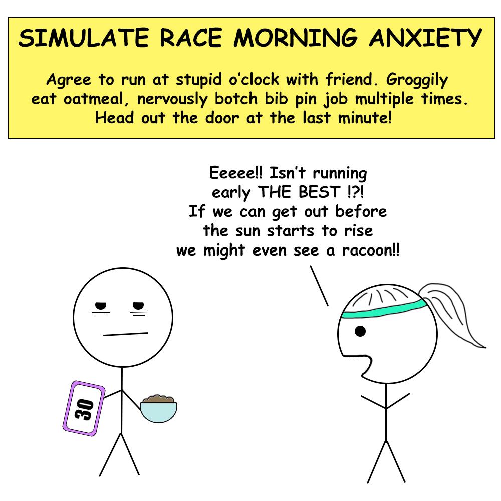 Virtual race morning routine