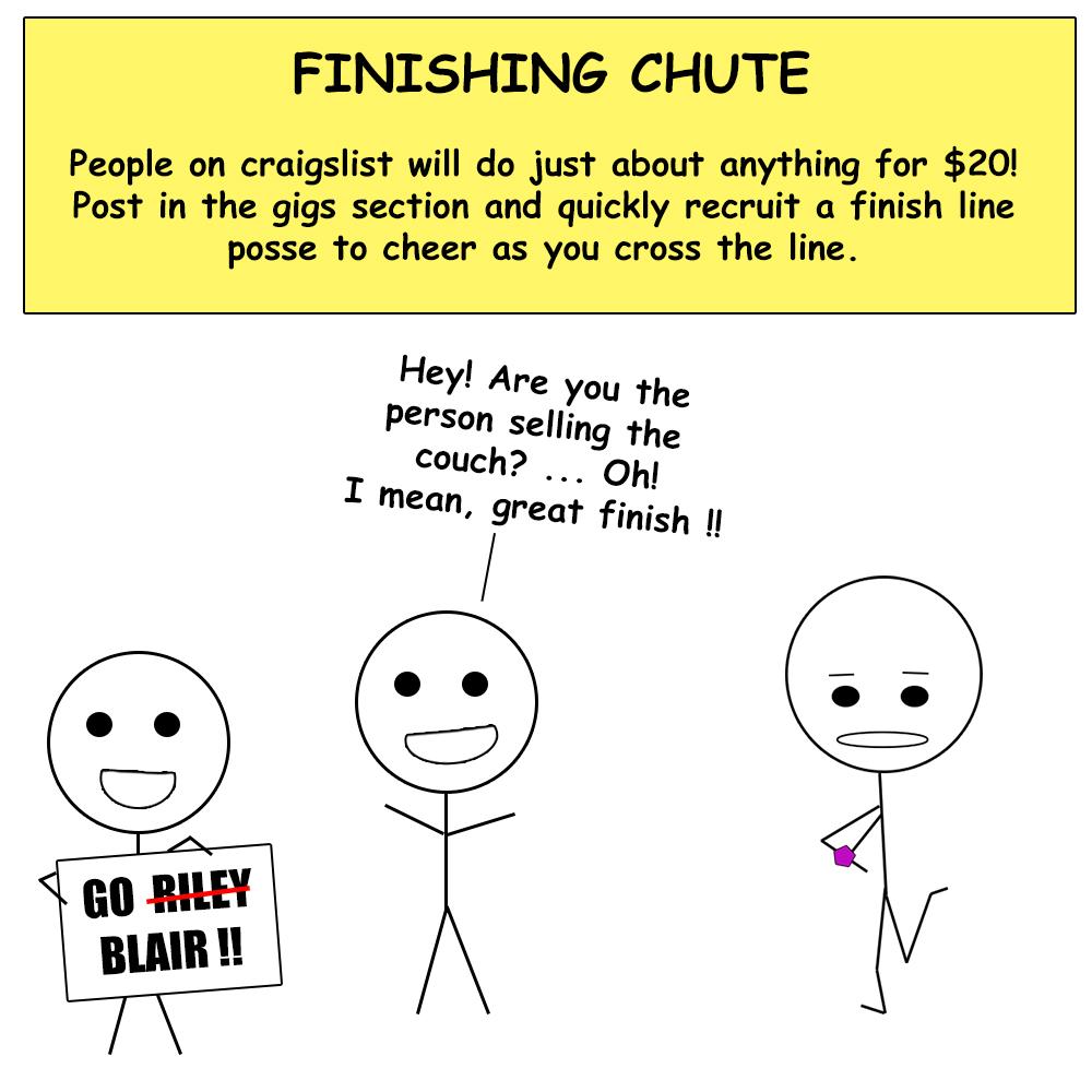 Virtual race finish
