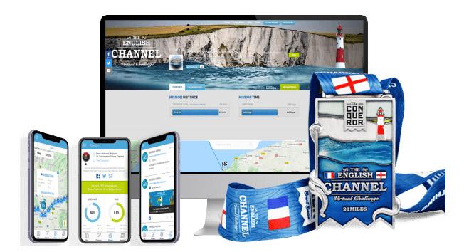 english channel virtual race