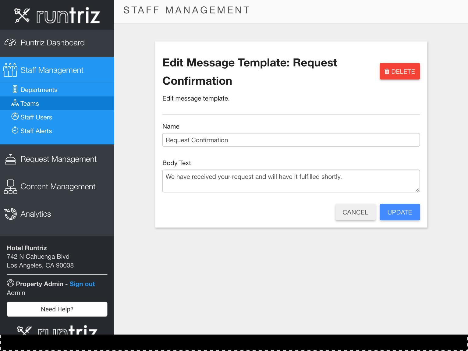 Advanced Options - Messaging Templates