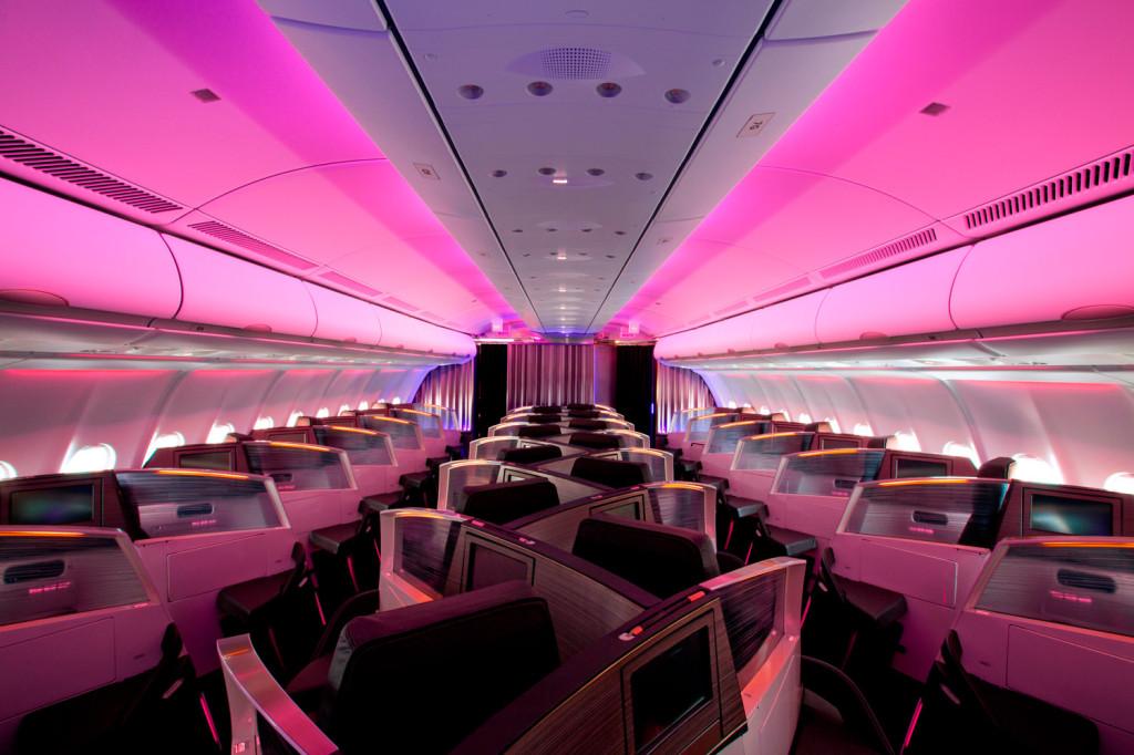 Herringbone aisle access - Virgin Atlantic