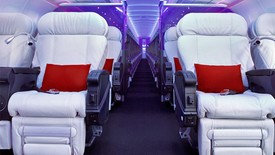 Virgin America's first class cabin is ten years out of date. Image: Virgin America
