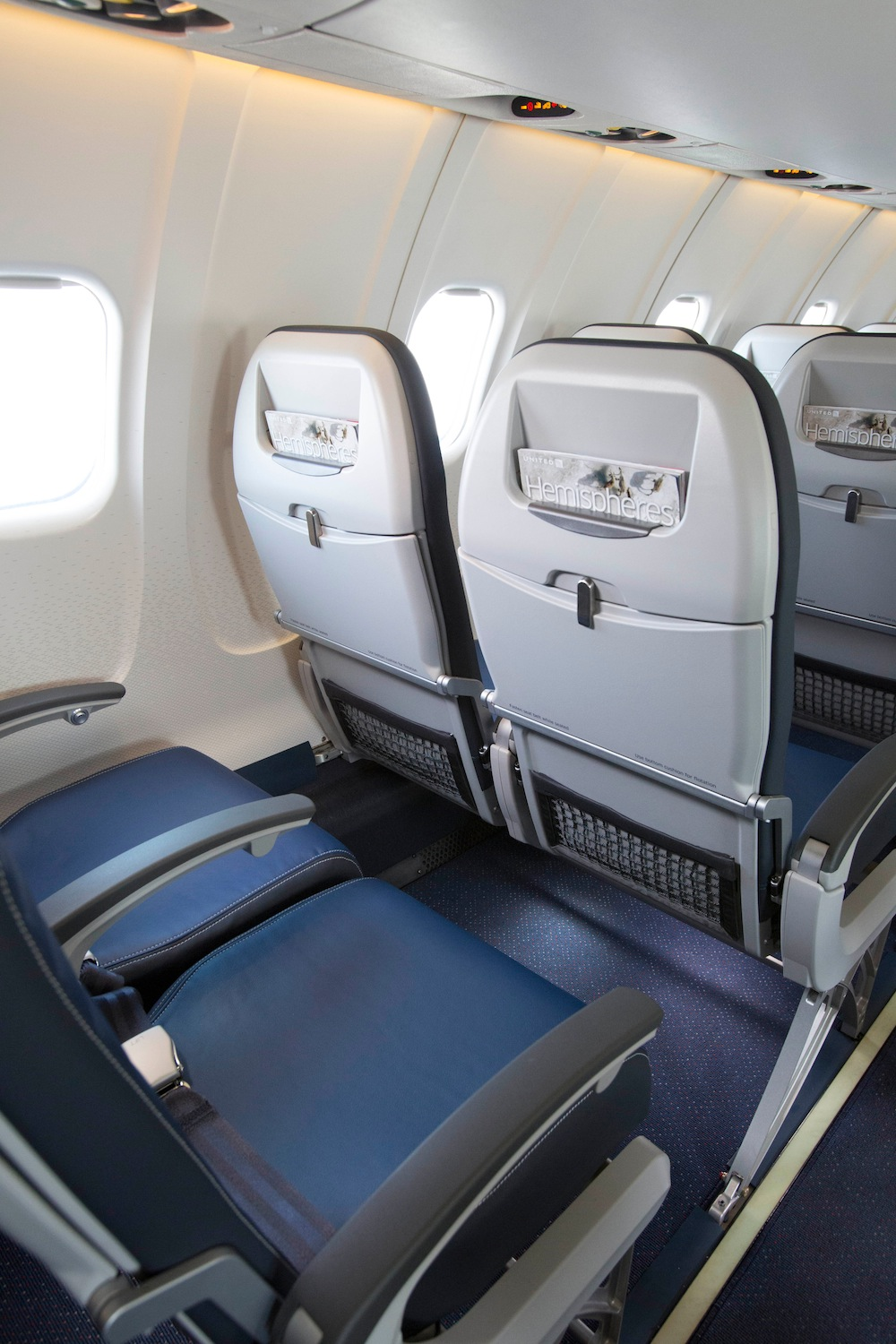 Small regional jets (like this refitted CRJ-700) have no middle seats and sometimes only one seat on one side of the aircraft. Image: AA