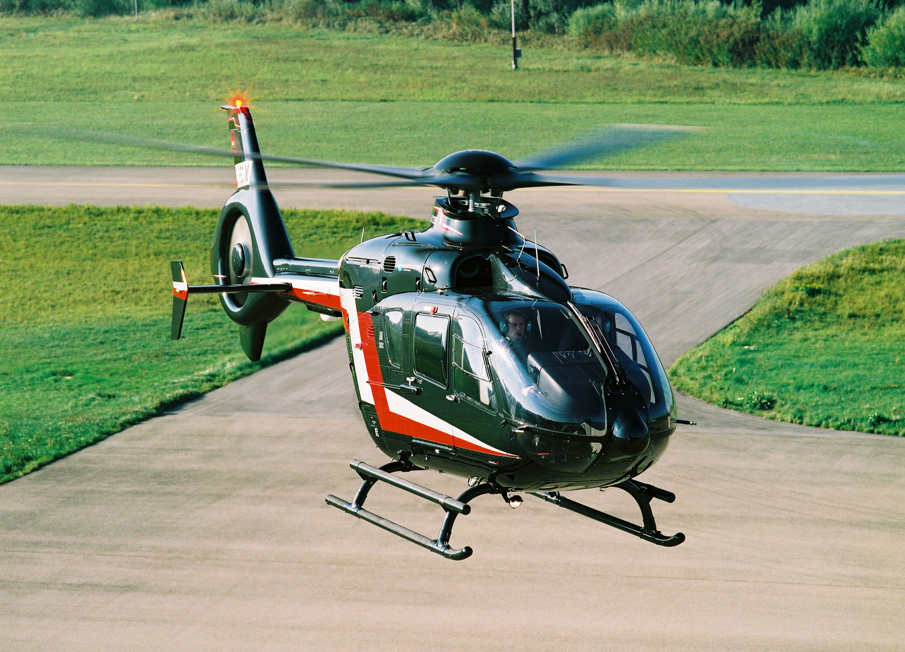 Constant innovation through EC135 (seen here) and H135 models has kept the series at the top of its game. Image: Airbus