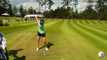 Stacy Lewis - Grip, Downswing, Range Routine