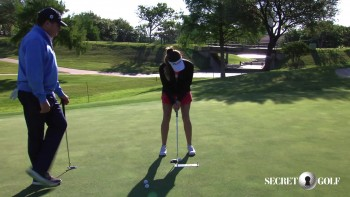Gaby Lopez - Lining Up A Putt
