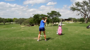 Gerina Piller: Slow Motion - 5 Iron, Rear View