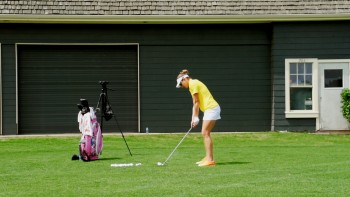 Brittany Lang - Slow Motion: 5 Iron; Over the Camera