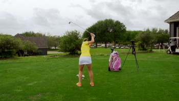 Brittany Lang - Slow Motion: 5 Iron, Rear View