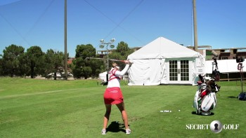 Gaby Lopez - Slow Motion, 5 Iron (Rear View)