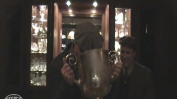Drinking out of Wanamaker Trophy (Part 4)