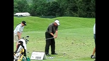 Rocco Mediate's Hands/Slow Motion: 45 Degree View, Mid Iron