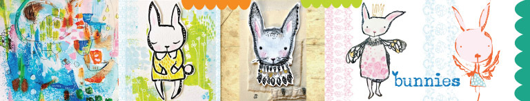 ink • pencil • sew • paint • collage bunnies {5 techniques + 1 bunny tale}