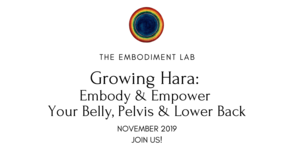 Embodiment Lab November 2019: Growing Hara: Embody & Empower Your Belly, Pelvis & Lower Back