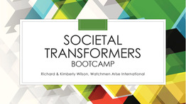 Societal Transformers Bootcamp - Semester 1