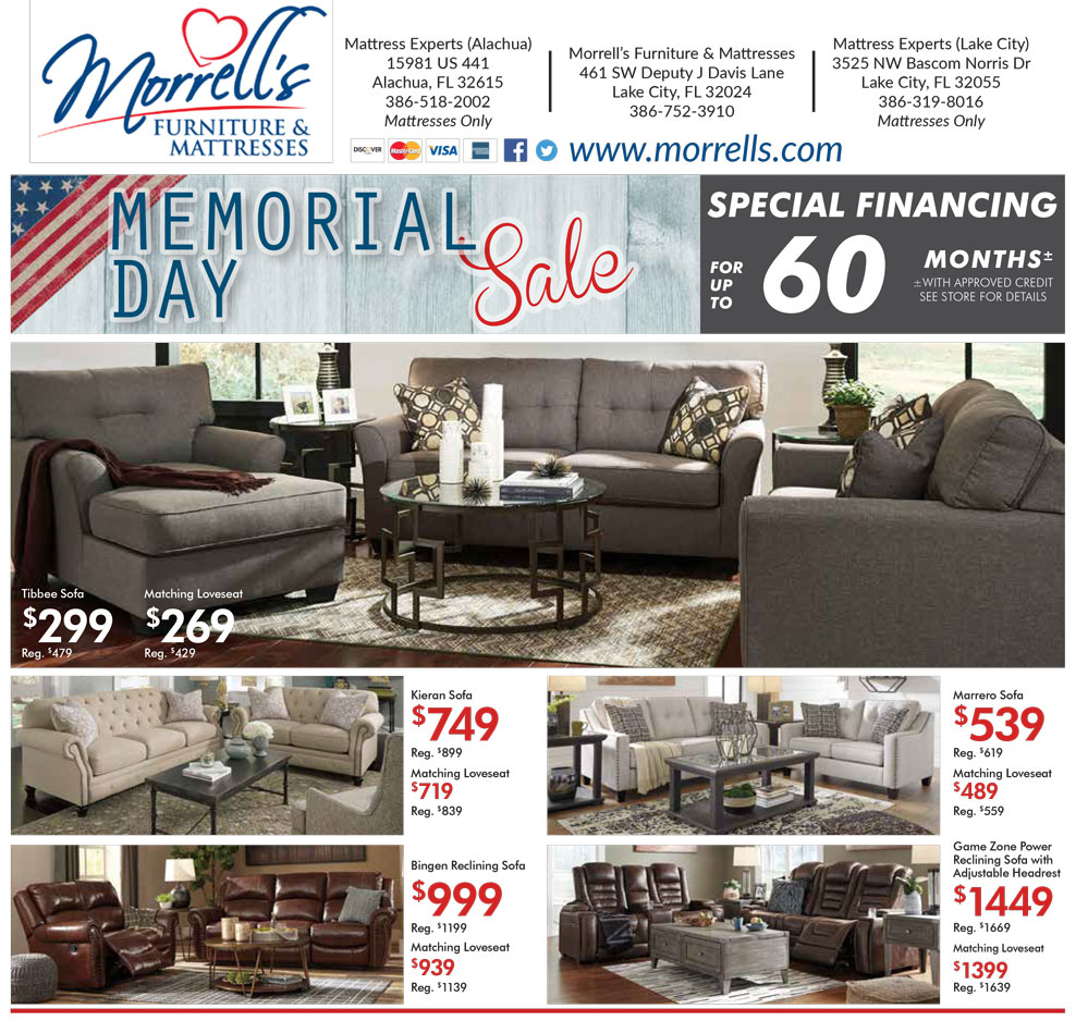 Store Flyers | Morrell\'s Furniture and Mattresses