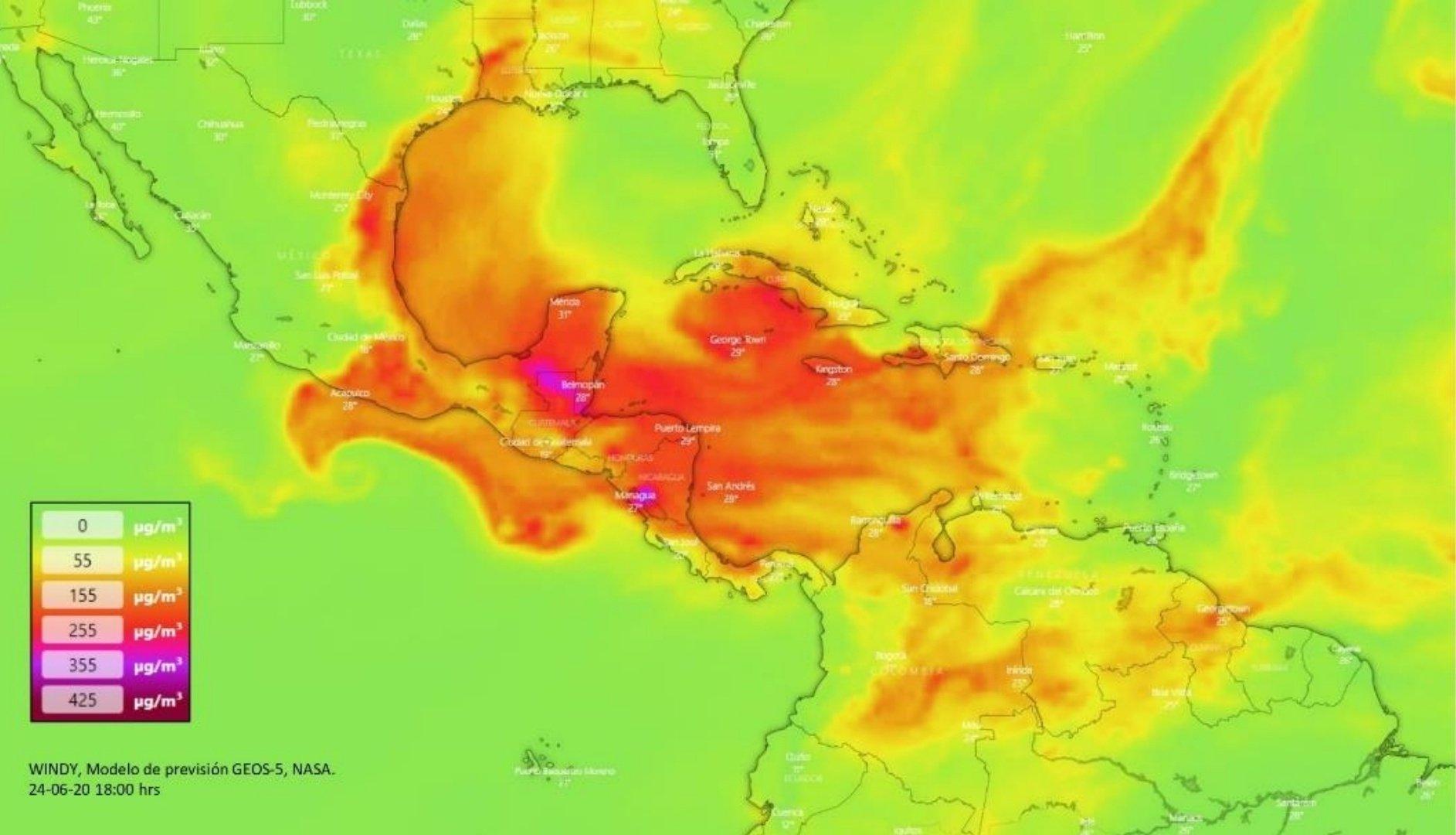 ¿CÓMO MONITOREAR EL AVANCE POR MÉXICO, DE POLVO DEL SAHARA?
