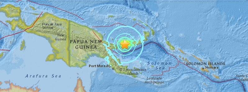 SISMO MAGNITUD 6.9 SACUDE PAPÚA NUEVA GUINEA