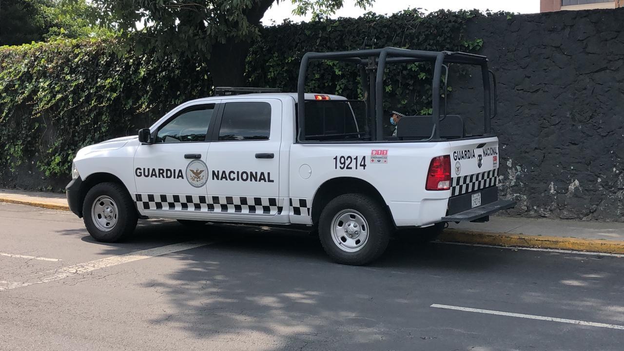 GUARDIA NACIONAL RESGUARDA HOSPITAL DONDE SE ENCUENTRA INTERNADO EMILIO LOZOYA