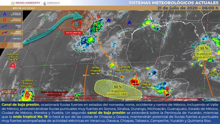 HABRÁ CLIMA LLUVIOSO EN EL CENTRO DEL PAÍS