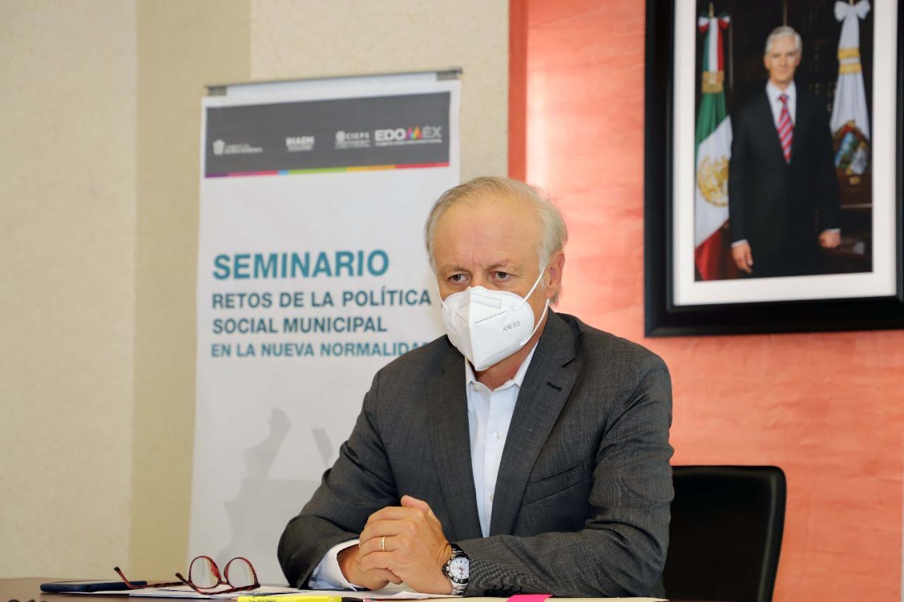 """REALIZAN SEMINARIO """"RETOS DE LA POLÍTICA SOCIAL MUNICIPAL EN LA NUEVA NORMALIDAD"""""""