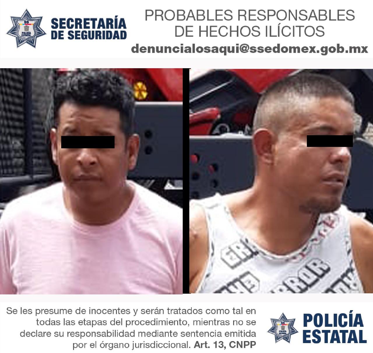 ARRESTAN A SUJETOS POR PRESUNTO ROBO CON VIOLENCIA A TIENDAS DE CONVENIENCIA