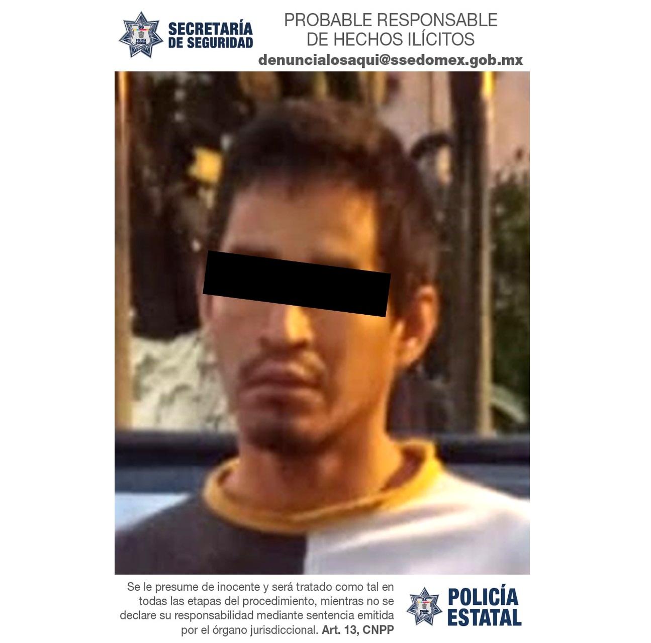 DETIENEN A SUJETO IMPLICADO EN EL DELITO DE ROBO CON VIOLENCIA A TRANSEÚNTE