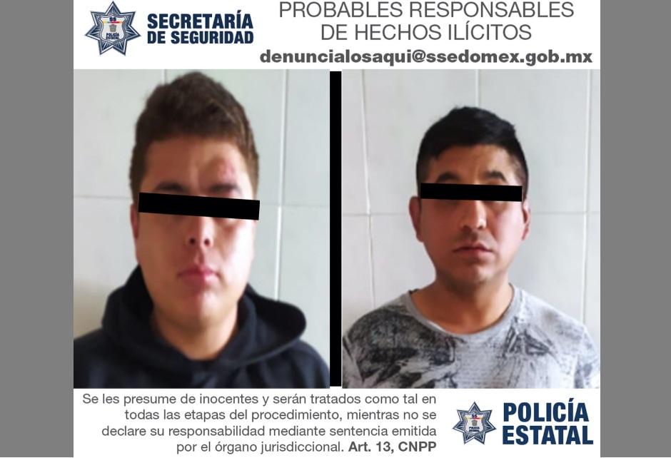 DETIENEN A DOS PROBABLES DELINCUENTES IMPLICADOS EN EL DELITO DE ROBO CON VIOLENCIA