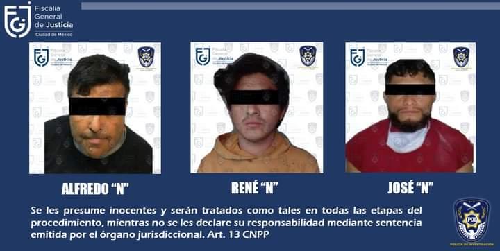 APREHENDE FGJCDMX A TRES SUJETOS PRESUNTAMENTE IMPLICADOS EN DELITOS DE HOMICIDIO Y ROBO