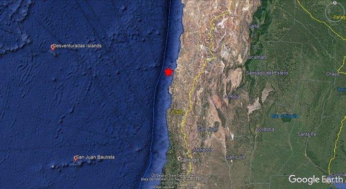 VIDEOS: SE REGISTRA SISMO DE 6.8 EN CHILE Y VARIAS RÉPLICAS