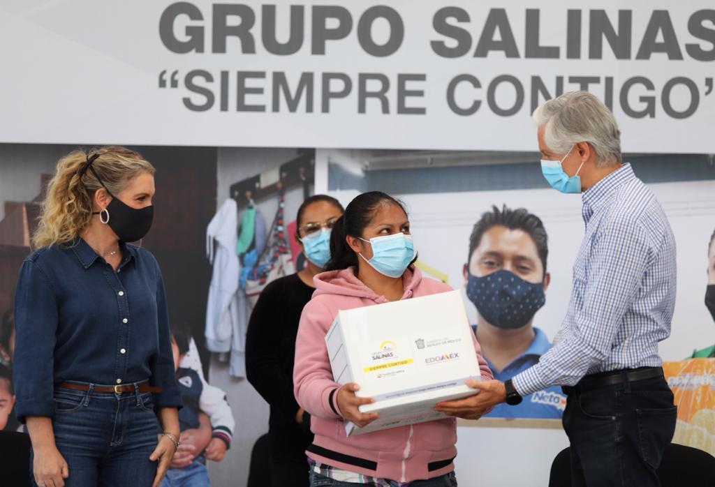 RECONOCE ALFREDO DEL MAZO A GRUPO SALINAS POR APOYAR A LA ECONOMÍA FAMILIAR