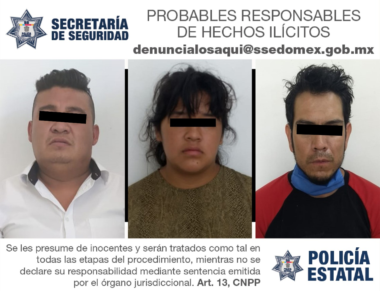 CAPTURAN A TRES PERSONAS EN POSESIÓN DE DOS VEHÍCULOS CON REPORTE DE ROBO VIGENTE