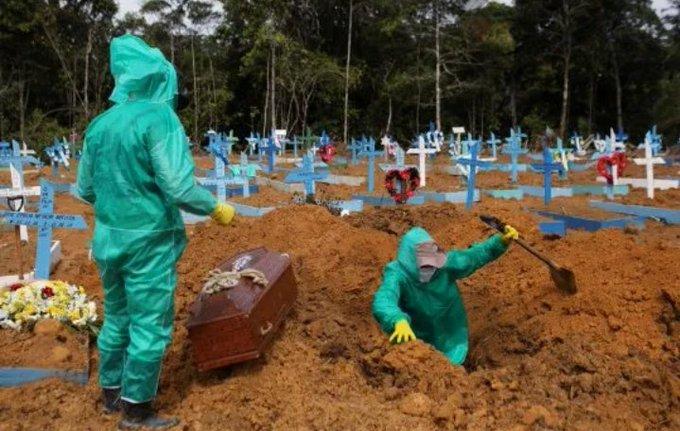 BRASIL ALCANZA 125 MIL 502 MUERTES POR COVID-19