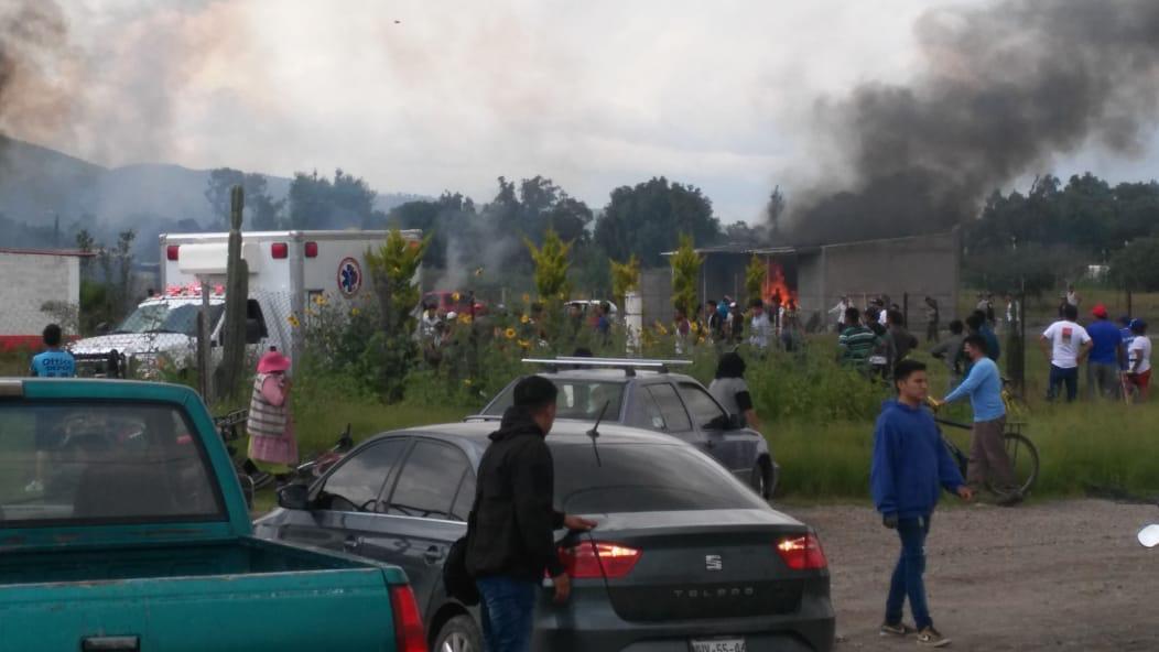 FALLECE UNA PERSONA TRAS EXPLOSIÓN DE UN POLVORÍN EN ZUMPANGO