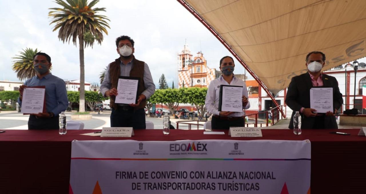 SECRETARÍA DE TURISMO Y ANTT FIRMAN CONVENIO PARA PROMOVER EL TURISMO EN EL EDOMÉX