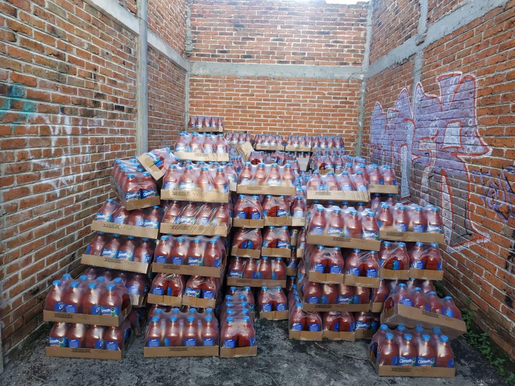 RECUPERAN MERCANCÍA ROBADA DE UNA EMPRESA REFRESQUERA, VALUADA EN MÁS DE 250 MIL PESOS