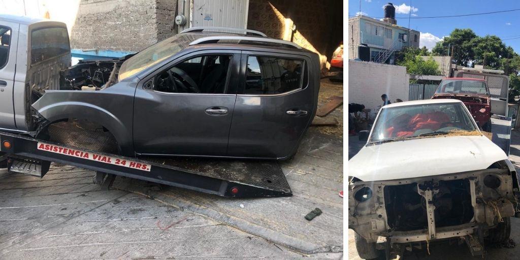 RECUPERAN AUTOPARTES Y VEHÍCULOS CON REPORTE DE ROBO EN CHIMALHUACÁN