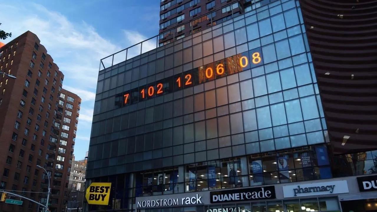 RELOJ CLIMÁTICO EN NUEVA YORK COMIENZA LA CUENTA REGRESIVA