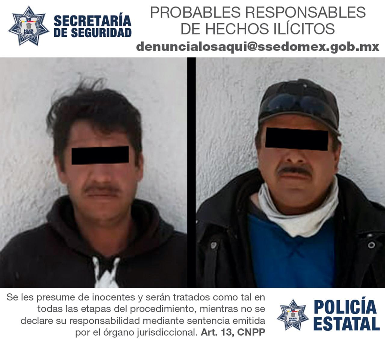 DETIENEN A DOS SUJETOS POR PORTACIÓN ILEGAL DE ARMA DE FUEGO EN CALIMAYA
