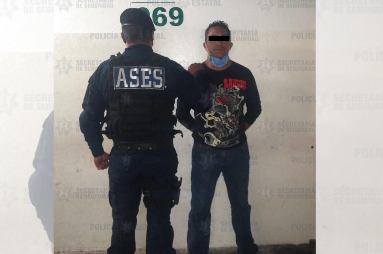 APREHENDEN A SUJETO POR EL POSIBLE DELITO DE ROBO CON VIOLENCIA