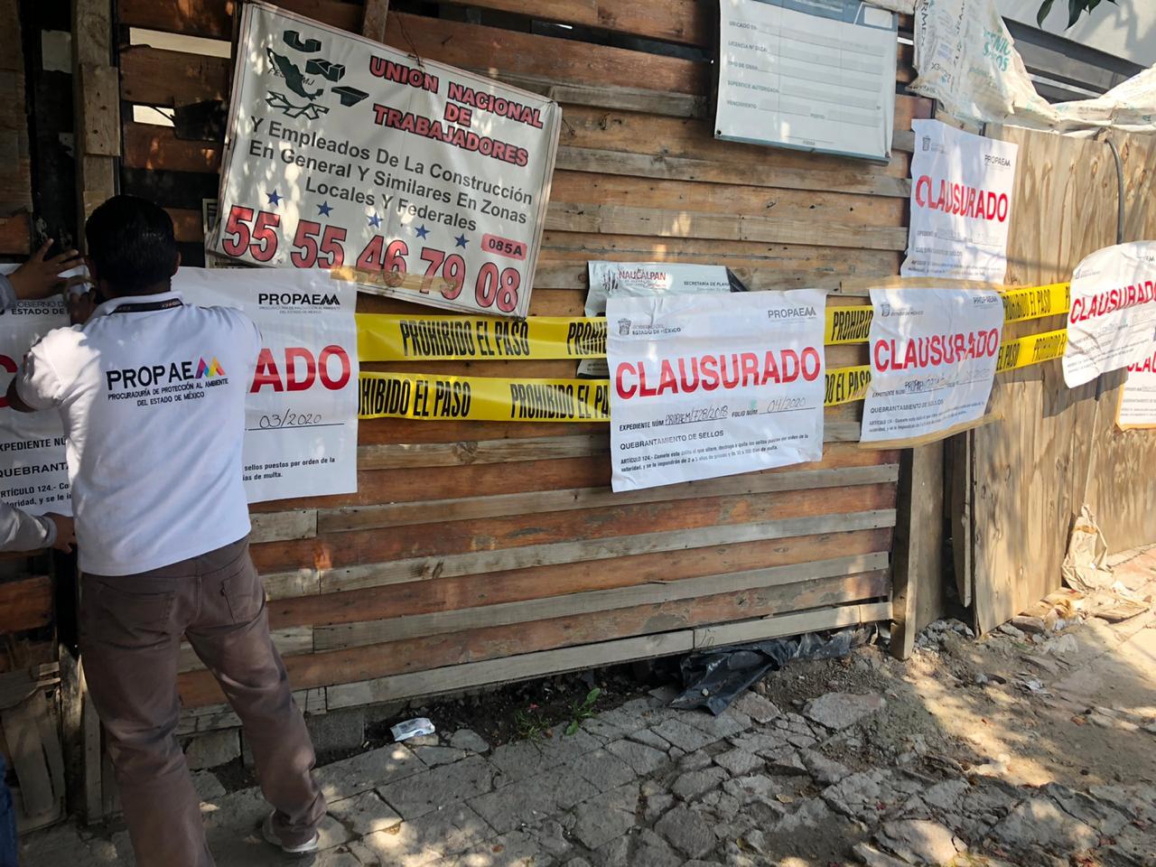 CLAUSURA PROPAEM TRES CONSTRUCCIONES REALIZADAS SOBRE ÁREAS NATURALES PROTEGIDAS