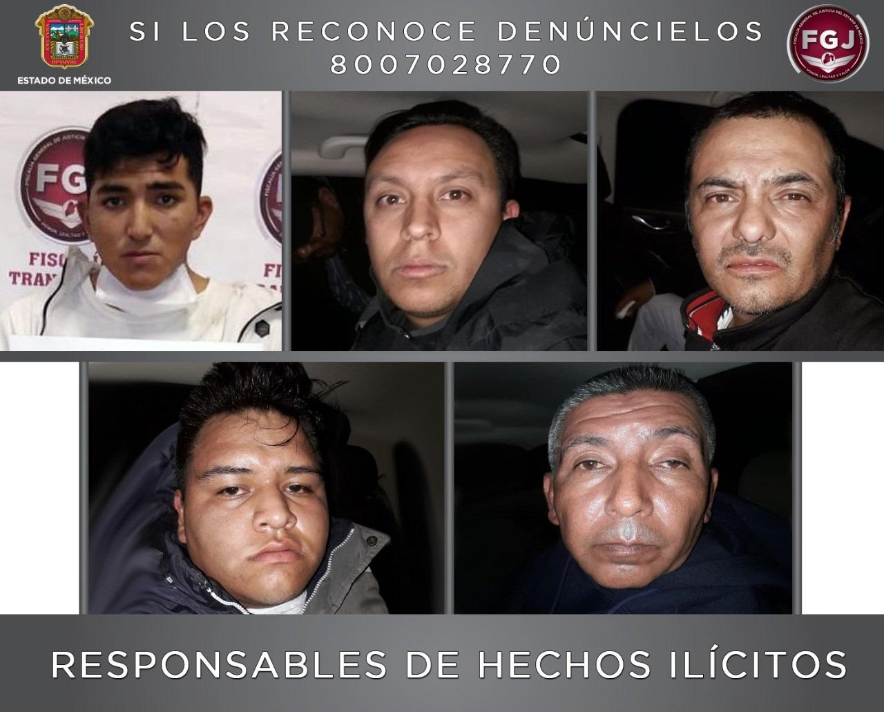 DICTAN SENTENCIA A CINCO SUJETOS POR ROBO CON VIOLENCIA EN TECÁMAC Y ECATEPEC