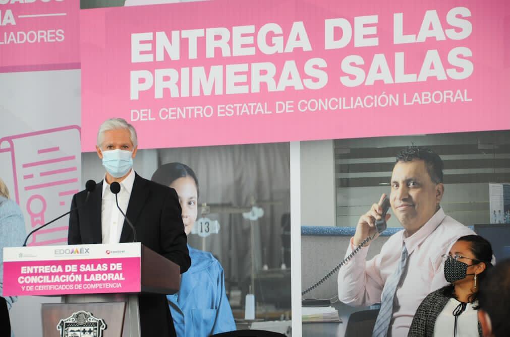 ALFREDO DEL MAZO PONE EN MARCHA LA PRIMERA SALA DEL CENTRO ESTATAL DE CONCILIACIÓN LABORAL