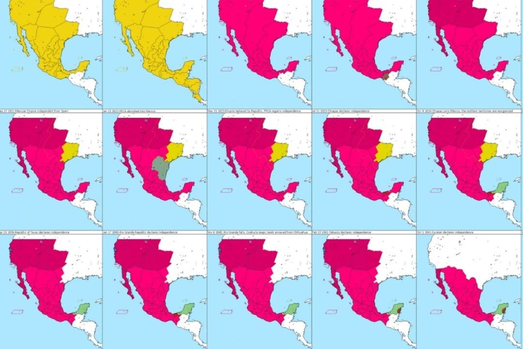 ASÍ FUE LA TRANSFORMACIÓN DE TERRITORIO EN MÉXICO; EL CAMBIO DE MAPAS