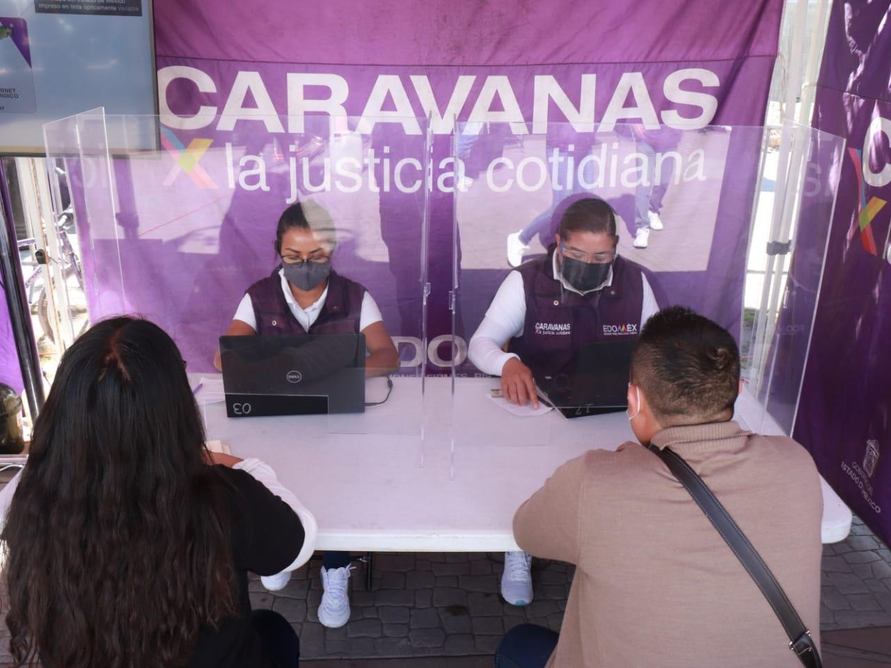 EN EDOMÉX LAS CARAVANAS POR LA JUSTICIA SON REFERENTE DE INNOVACIÓN EN MATERIA DE JUSTICIA