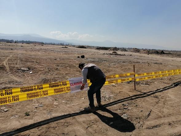 REPONE PROPAEM SELLOS DE CLAUSURA EN TIRADERO DE VALLE DE CHALCO
