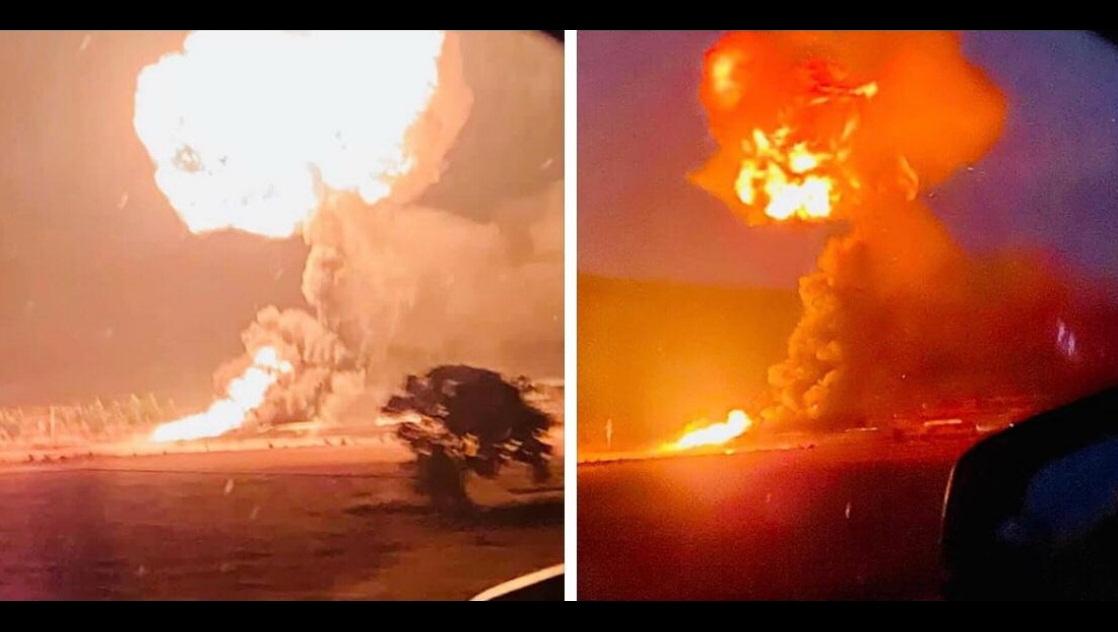 VIDEO: SE REGISTRAN FUERTES EXPLOSIONES EN GASERA DE HIDALGO