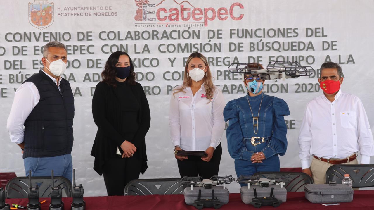ENTREGAN EQUIPAMIENTO A CÉLULA DE BÚSQUEDA DE ECATEPEC