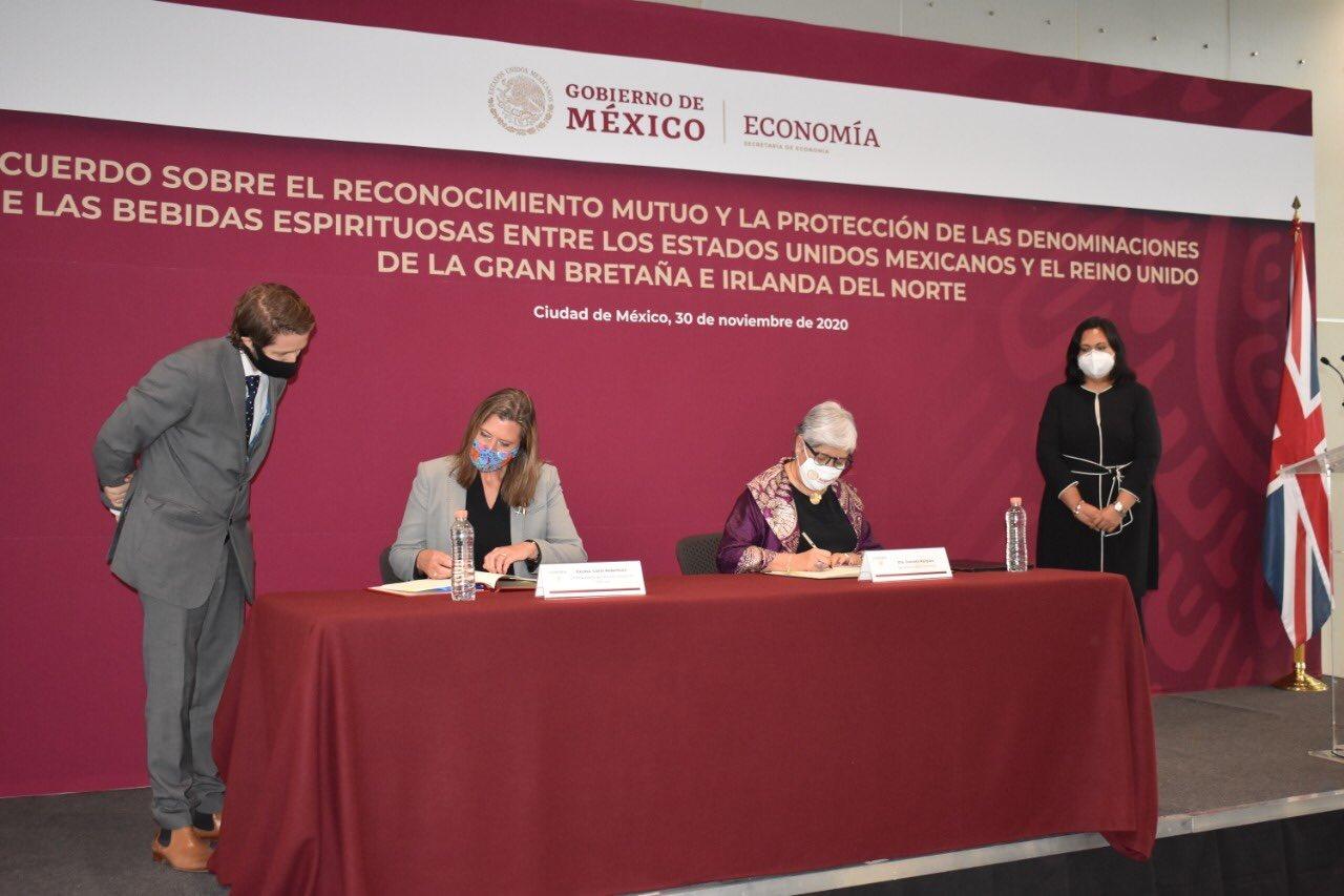 MÉXICO Y REINO UNIDO FIRMAN ACUERDO PARA PROTEGER BEBIDAS ESPIRITUOSAS